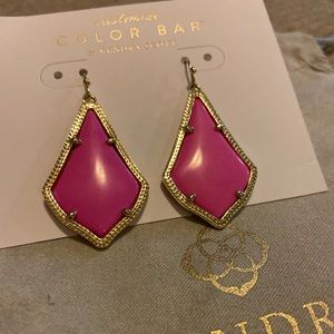 Kendra Scott Alex Earring in Magenta and Gold